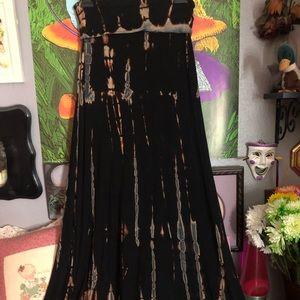 Love in tie dye maxi skirt/ dress combo